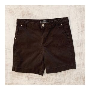 Expresso brown Lee bermuda shorts for women